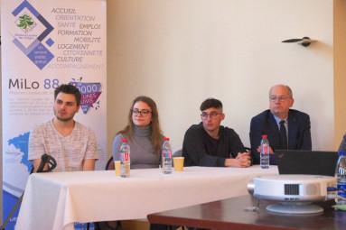 Témoignages de Samuel, Marine, Loïc (de g. à dr.) et Jean-Pierre Begel (DGS ville de Mirecourt)