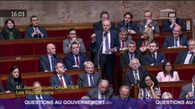 Jean-Jacques Gaultier à l'assemblée nationale (archives)