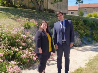 Jenny Willemin (maire de Martigny-les-Gerbonvaux au côté de Jean Hingray (maire de Remiremont).