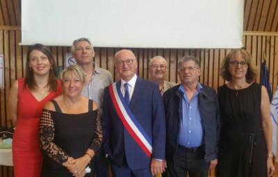 Luc Gerecke et les six adjoints.