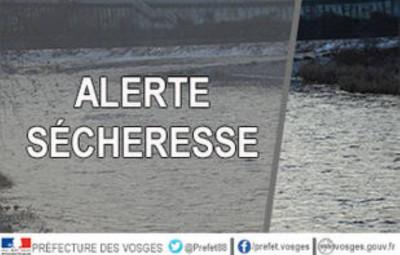 Alerte sécheresse (Photo Préfecture des Vosges)