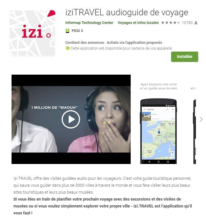 """L'application """"Izi.Travel"""" pour découvrir Contrexéville."""